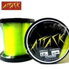 Fir monofilament Attack Special Casting 0.20mm/4.3kg/1200m