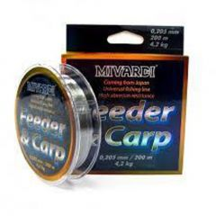 Fir monofilament Mivardi Feeder&Carp 0,225mm/5,90kg/200m