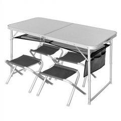Masa Norfin Runn cu patru scaune 120x60x70cm