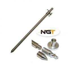 Suport telescopic NGT inox 30-50cm + adaptor ponton 3in1