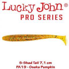 Shad Lucky John S-Shad Tail 7.1cm, culoare Osaka Pumpkin - 7 buc/plic