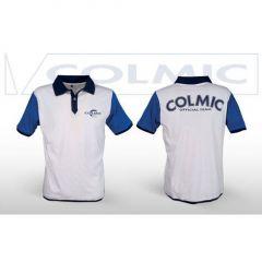 Tricou Colmic Polo White-Blue, marimea S