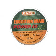 Fir textil EVOS Evolution Braid Power 4X 0.25mm/29kg