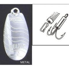Lingura rotativa Rublex Veltic nr. 4, culoare Argint, 8.0gr