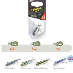Fiiish Power Tail Slow 3.8cm/4.8g, culoare Natural Trout