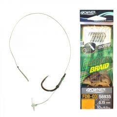 Carlige legate Owner FDB-03 Quick Stop Braided Barbed Nr.10