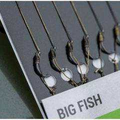 Carlige legate Korum Big Fish Braided Hair Rigs Barbless Nr.12