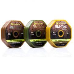 Fir textil Ridge Monkey Tec Stiff Coated Hooklink 25LB Weed Green