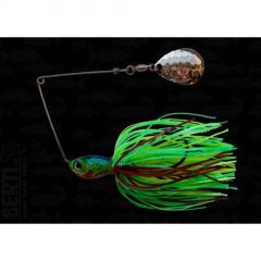 Bertilure Spinnerbait Colorado Deep Cup, 11gr,Skirt Siliconic Fire Tiger
