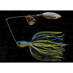 Bertilure Spinnerbait Colorado nr.2 Salcie nr.2, 14gr,Skirt Siliconic Blue-Chartreuse
