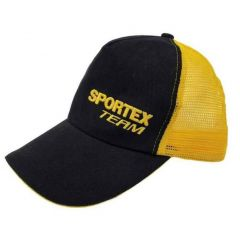 Sapca Sportex Base Cap Black Yellow Net