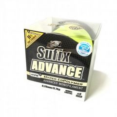 Fir monofilament Sufix Advance 0.38mm/13.6Kg/780m HI-VIS YELLOW