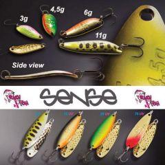 Lingura oscilanta Crazy Fish Sense 4.5g, culoare 9.1 Olym