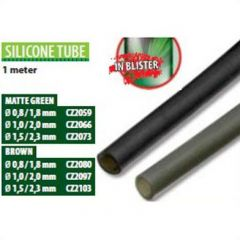 Tub siliconic Carp Zoom 0,8/1,8mm - Green, 1m