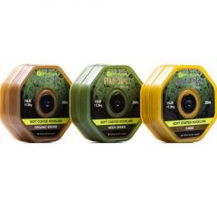 Fir textil Ridge Monkey Tec Soft Coated Hooklink 25LB Weed Green