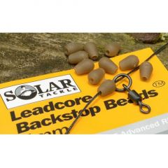 Solar  Leadcore Backstop Beads - Brown