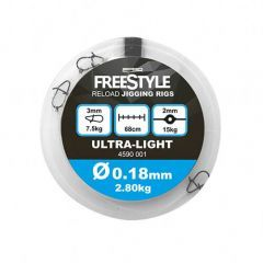 Spro Freestyle Reload Jigging Rigs 0.18mm/68cm Inaintas fluorocarbon