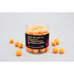 Boilies Sticky Baits Pop-Up Peach & Pepper 12mm