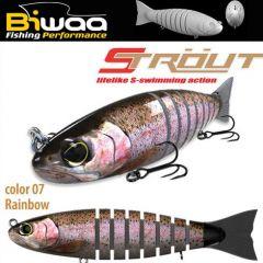 Swimbait Biwaa Strout 16cm/52g, culoare Rainbow