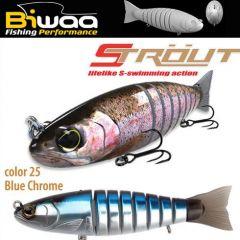 Swimbait Biwaa Strout 14cm/29g, culoare Blue Chrome