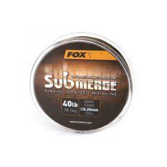 Fir textil Fox Submerge Sinking Braided Mainline Dark Camo 0.30mm/55lb/300m