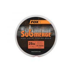 Fir textil Fox Submerge High Visual Sinking Braid Bright Orange 0.16mm/25lb/300m