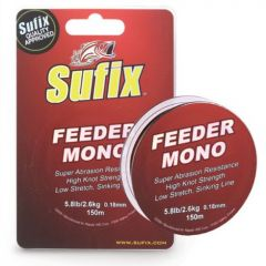 Fir monofilament Sufix Feeder Mono 0.18mm/2.8kg/150m Burgundy