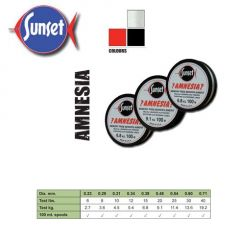 Fir monofilament Sunset Amnesia Clear 0.38mm, 100m