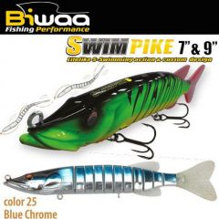 Swimbait Biwaa Swimpike SS 18cm/26g, culoare Blue Chrome