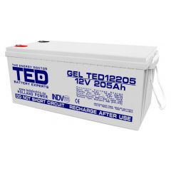 Acumulator etans GS Ted GEL Deep Cycle 12V/205Ah
