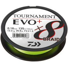 Fir textil Daiwa Tournament 8X Braid EVO+ Chartreuse 0.16mm/12.2kg/135m
