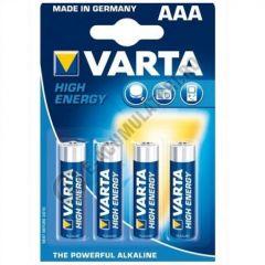 Baterii alcaline Varta High Energy 1,5V AA/R6, set 4 bucati