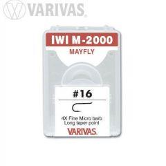 Carlige Varivas IWI M-2000 Mayfly 4X Fine nr.16