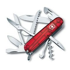 Briceag multifunctional Victorinox Huntsman - Red Transparent