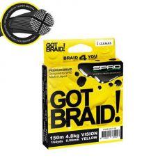 Fir textil Spro Got Braid! Vision Yellow 0.08mm/4.8kg/150m
