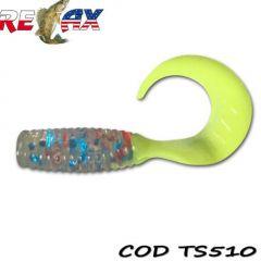 Grub Relax Twister VR1 4cm, culoare 510 - 25 buc/plic