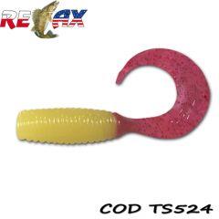 Grub Relax Twister VR2 4.5cm, culoare 524 - 25buc/plic