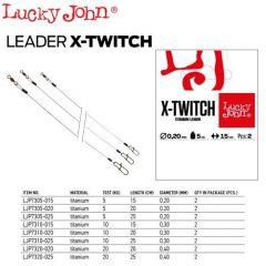 Strune Lucky John X-Twitch Titan 0.25mm/10kg/25cm
