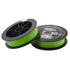 Fir textil YGK X-Braid X8 Upgrade PE Fluo Green 0.131mm/6.35kg/200m