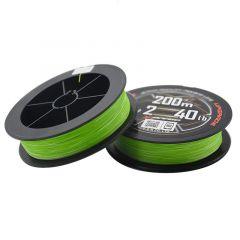 Fir textil YGK X-Braid X8 Upgrade PE Fluo Green 0.153mm/7.25kg/200m
