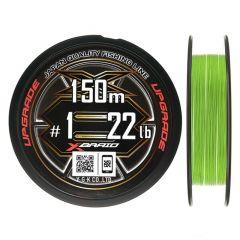 Fir textil YGK X-Braid X8 Upgrade PE Fluo Green 0.131mm/6.35kg/150m