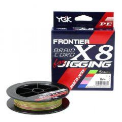 Fir textil YGK Frontier Braid Cord X8 For Jigging 0.165mm/16lb/200m