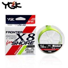 Fir textil YGK Frontier Braid Cord X8 For Shore 0.165mm/16lb/150m