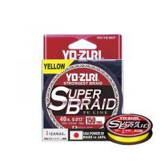 Fir textil Yo-Zuri SuperBraid Yellow 0.19mm/15lb/135m