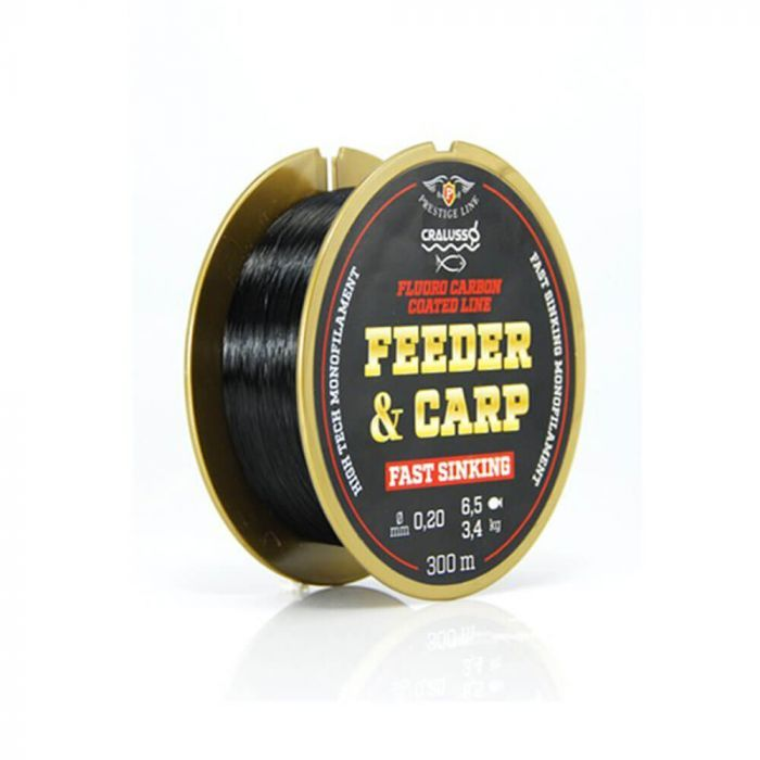 cralusso fluorocarbon coated feeder carp line fast sinking